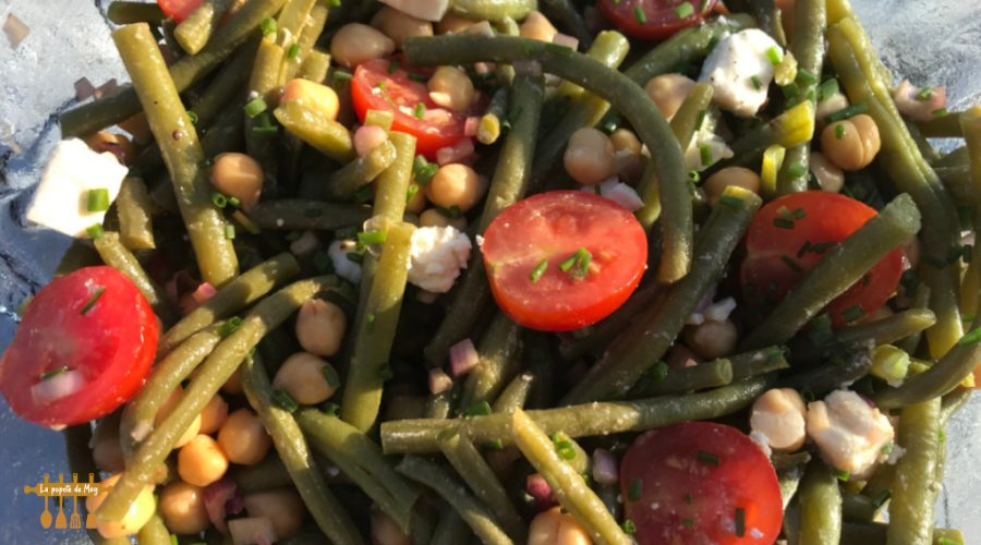Salade haricots verts et pois chiches