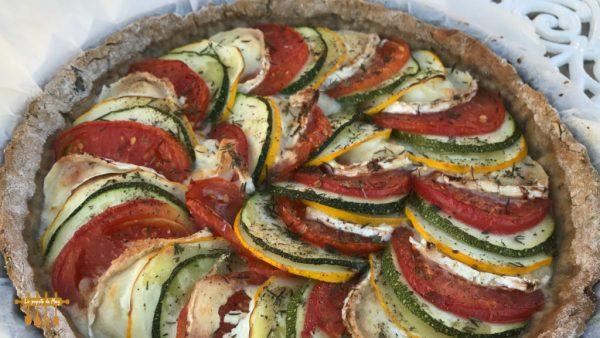 Tarte aux légumes d'été et fromage de chèvre