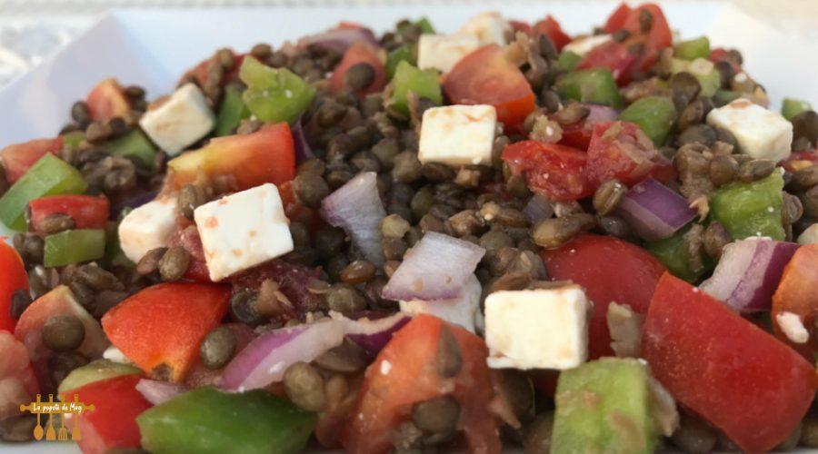 Salade de lentilles aux saveurs d'ailleurs