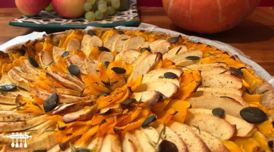 Tarte salée potimarron pommes